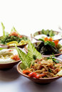 Lebanese mezze a selection of small dishes served in the mediterranean middle east and balkans as breakfast lunch or even dinner Stock Photo