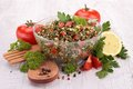 Lebanese tabbouleh close up on Stock Images