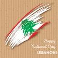 Lebanon Independence Day Patriotic Design.