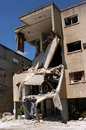 Lebanon war haifa isr july bombed out building that was struck by a katyusha rocket fired from south by hezbollah on july in the Stock Images