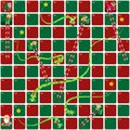 Snakes and Ladders Game Christmas version.