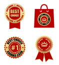 Lebels best choice labels web design element Royalty Free Stock Photo