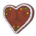 Lebkuchen heart oktoberfest for your own text Royalty Free Stock Images