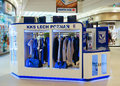 Lech poznan articles poland october footbal club fan in the galeria malta shopping mall Stock Images