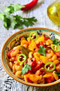 Lecho with bean traditional dish of hungarian cuisine Stock Photography