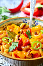 Lecho with bean traditional dish of hungarian cuisine Royalty Free Stock Photography