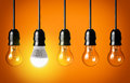 Led bulb eco concept with glowing Stock Image