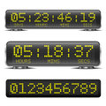 Led countdown timer detailed illustration of a digital with digits Royalty Free Stock Photo