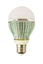 Led energy saving bulb light emitting diode suitable as background includes advertising Royalty Free Stock Photos