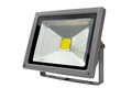 LED Energy Saving Floodlight gray. Royalty Free Stock Photo