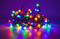 Led fairy lights Royalty Free Stock Photo