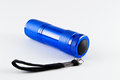 LED Flashlight - Blue color - Backside Royalty Free Stock Photo