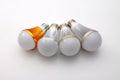 Led lamp bulb light blue isolated on white Royalty Free Stock Photography