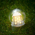 Led lamp on the grass Royalty Free Stock Photography