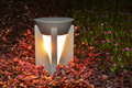 Led lawn lamp as garden save electricity and very eco friendly Royalty Free Stock Images