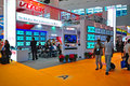 Led and lcd tv booth at canton fair 2011 Stock Photography