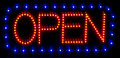 LED open sign Stock Photo