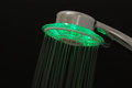 Led shower head on the black background Royalty Free Stock Image