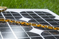 LED strip on photovoltaic solar panel