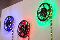 LED strip with red, green and blue LEDs. Royalty Free Stock Photo
