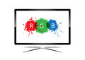 Led television vector of design Stock Images