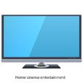 Led tv vector widescreen for home cinema Stock Photos