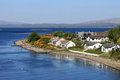 Ledaig point lynn of lorn and lismore island view nw from the connel bridge over loch etive looking towards connel airfield is to Stock Photos