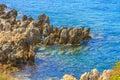 Ledge landscape of a in jijel algeria Royalty Free Stock Photo