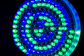 Leds close up of green and blue Royalty Free Stock Photography