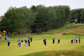 Lee Westwood approach shot 8th fairway Open Golf Stock Image