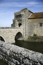 Leeds castle moat bridge kent england Royalty Free Stock Images