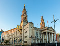 Leeds civic hall is a building housing city council located in millennium square west yorkshire england Royalty Free Stock Images