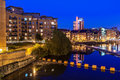 Leeds clarence dock is the newly developed in city centre england Stock Photos