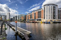 Leeds Dock in the city of Leeds Royalty Free Stock Photo