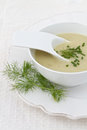 Leek and Potato Soup Royalty Free Stock Image
