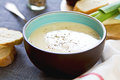 Leek and Potatoes soup Royalty Free Stock Photo
