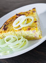 Leek quiche. Stock Photography