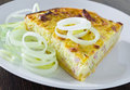 Leek quiche. Royalty Free Stock Photography