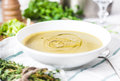Leek soup close up Royalty Free Stock Photo