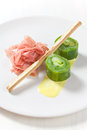 Leek sushi Stock Photo