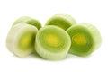 Leek vegetable on white Royalty Free Stock Photo