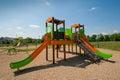Leerer Kindspielplatz Stockfotografie