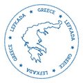 Lefkada map sticker.