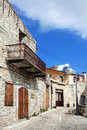 Lefkara cyprus byzantine medieval terraced houses in the old village town of which is well known for its lace making crafts Royalty Free Stock Images