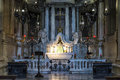 Left apse chapel of Genoa Cathedral, Italy Royalty Free Stock Photo