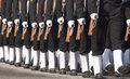 Left foot forward sailors of the indian navy marching in step at the annual republic day parade in delhi india Royalty Free Stock Photo