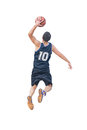 Left hand dunk on white isolated background Royalty Free Stock Photography