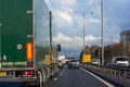 Left hand traffic england – february on a highway in england near london february Stock Photos