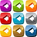 Left icon button set Royalty Free Stock Images