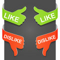 Left and right side sign - LIKE and DISLIKE Royalty Free Stock Images